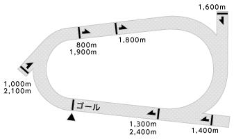 高知競馬場コース画像