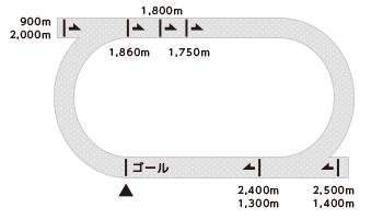 佐賀競馬場コース画像