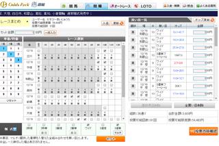 レースまとめ投票画面