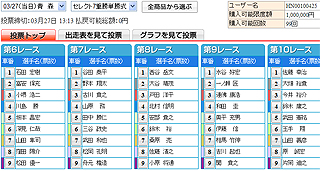 セレクト投票画面